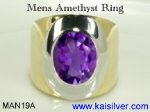 amethyst gemstone ring for men