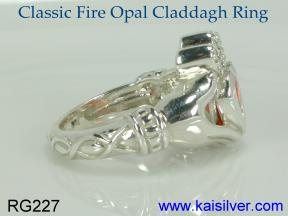womens claddagh ring with gemstone