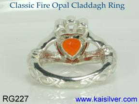custom claddagh birth stone ring made to order