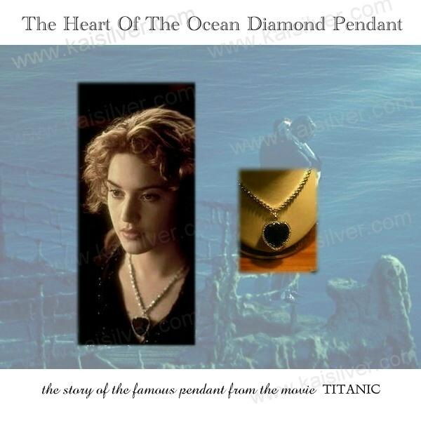 blue heart shaped pendant, movie titanic
