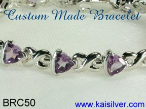 gemstone bracelet made to order in 14k or 18k gold