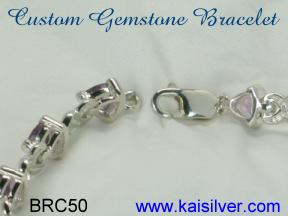 made to order white gold bracelet
