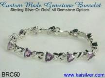 custom made bracelet with gemstones, gold or sterling silver bracelets