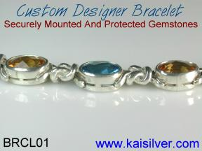 custom gold bracelets, both white and yellow gold custom bracelets are available
