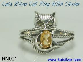 custom cat ring