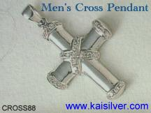 Religious men's jewelry, cross