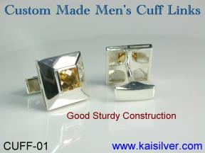 cuff link sterling silver