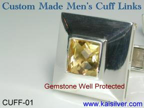 custom sterling silver cuff links