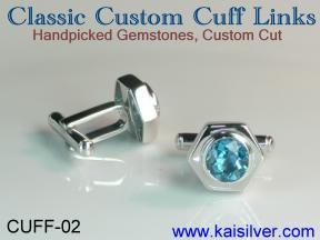 cuff links custom made in sterling silver or gold