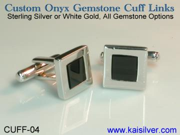 sterling silver cuff link, custom made