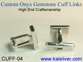 black onyx cufflink made to order