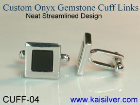 cuff link black onyx gem stone
