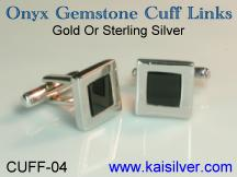 onyx gemstone man cuff link custom