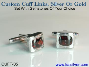 silver cuff link, made to order