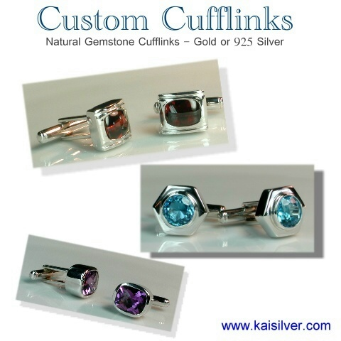 cufflinks with gemstones made to order