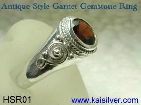 gold or sterling silver garnet rings made to order