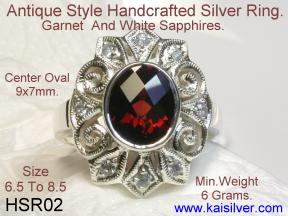 Handmade Silver Ring Antique Style