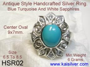 Silver Rings With Turquoise Gemstone