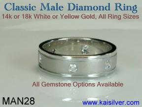 male diamond rings, male diamond jewelry