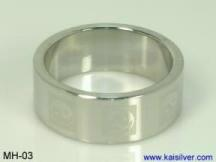 men's white gold ring