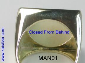 yellow or white gold man onyx rings, custom made