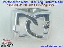 Personalized Man Ring White Gold