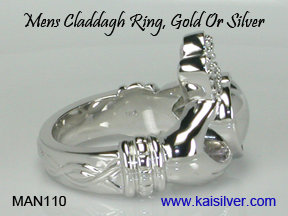 cladagh ring for men gold or silver