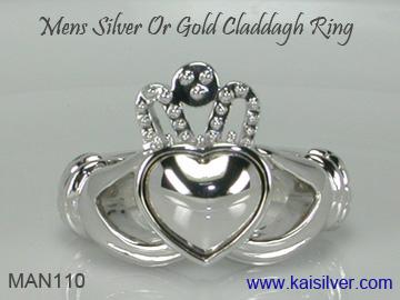 gents claddagh ring plain no gemstone