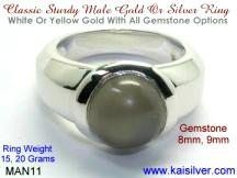Moonstone Ring For Men
