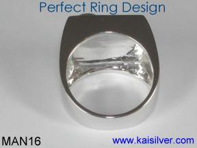 Mens Onyx Gemstone Ring