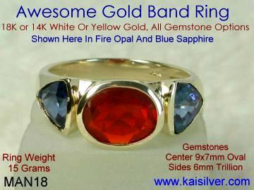 mens opal ring from Kaisilver, custom mens opal rings