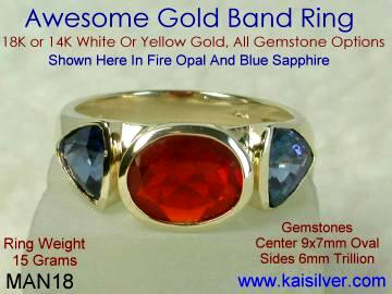 Fire Opal Ring For Male Classic Opal Rings For Men