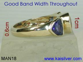 Opal Gold Rings For Men