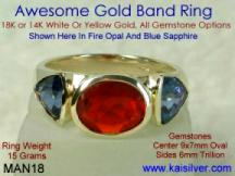 men's fire opal ring