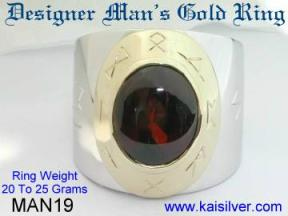 Custom gents jewelry, gents gold ring