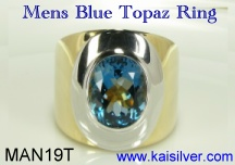 mens london blue topaz gemstone ring