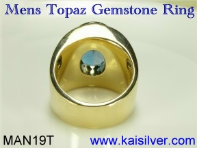 gem stone ring for men