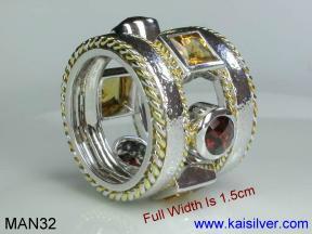 Men's fashion ring custom made