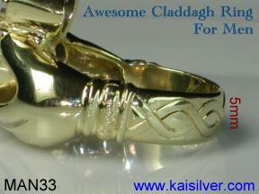 Man ring, Irish Claddagh rings