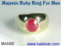 mens ruby rings gold or 925 silver ruby rings for men