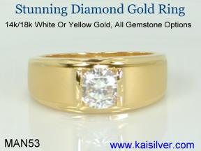 yellow or white gold diamond rings, made to order