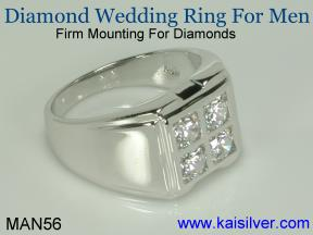 custom made two tone diamond ring for men