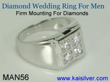 man white gold diamond ring
