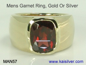 mens garnet ring custom kaisilver