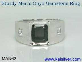gents black onyx ring