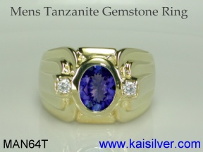 mens tanzanite ring