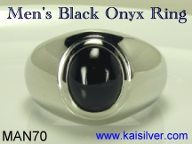 black onyx ring for men
