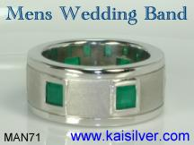 emerald engagement or wedding ring
