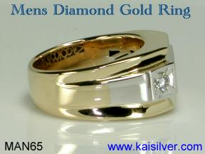 diamond ring for men, two tone diamond gold ring men's