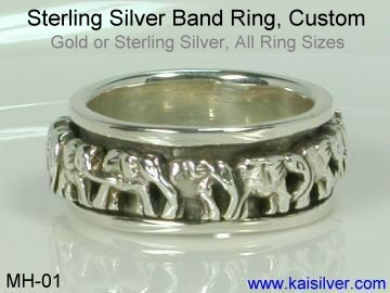 sterling silver plain wedding band ring